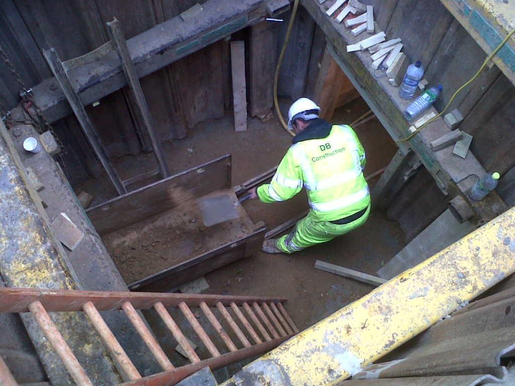 Tottenham thames water timber heading london sb civil
